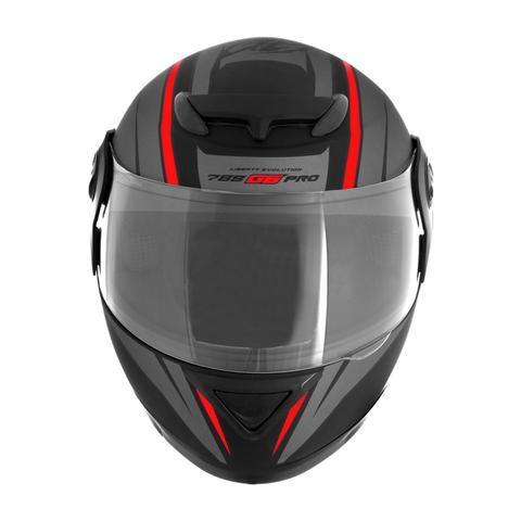 Imagem de Capacete Moto Fechado Pro Tork 788 G6 Preto Fosco Vermelho