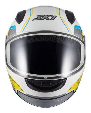 Imagem de Capacete Moto Fechado Sky Esportivo Two Anos 90 Motoqueiro