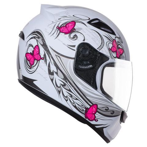 Imagem de Capacete Moto Feminino Ebf New Spark Borboleta Fechado