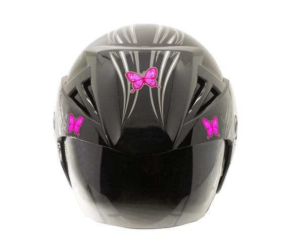 Imagem de Capacete Moto Feminino Ebf Thunder Open Borboleta Aberto