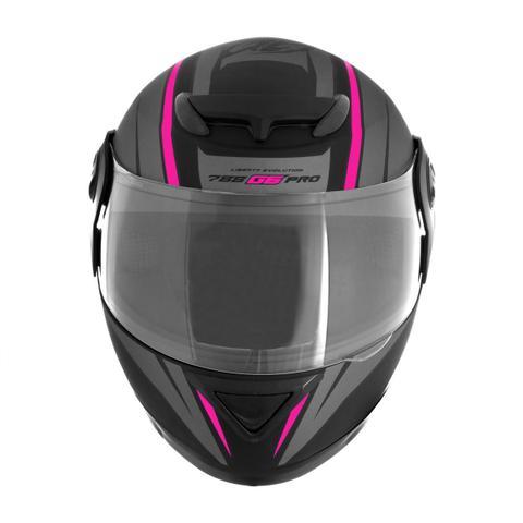 Imagem de Capacete Moto Feminino Pro Tork 788 G6 Preto Fosco Rosa