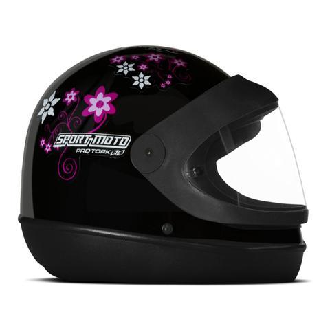Imagem de Capacete Moto Feminino Pro Tork Sport Moto For Girls