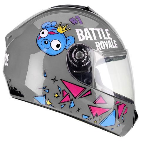Imagem de Capacete Moto Infantil Criança Fly Fun Game Cinza Brilhante
