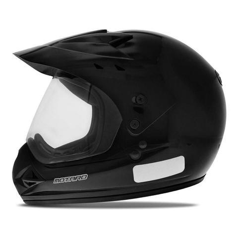 Imagem de Capacete Moto Motocross Fechado Com Viseira Ebf Motard Solid