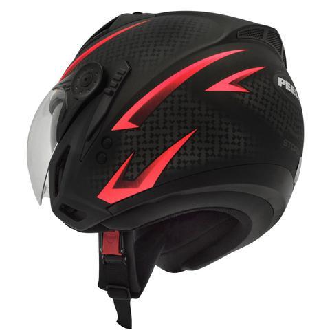 Imagem de Capacete Moto Peels Mirage Storm Preto Fosco Vermelho Com Óculos Solar