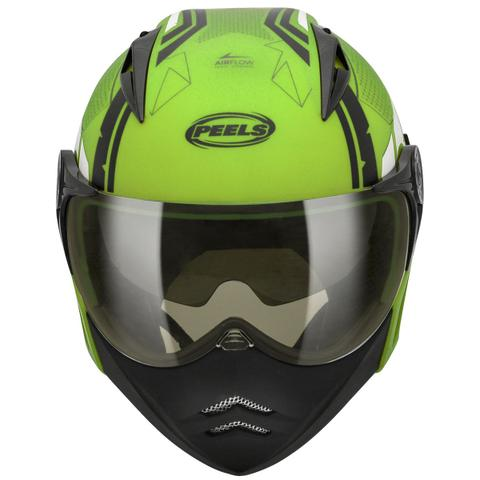 Imagem de Capacete Moto Peels Mirage Techride Verde Citrus Brilhante Com Óculos Solar