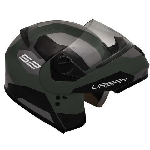 Imagem de Capacete Moto Peels Robocop Escamoteável Urban Sync 2 Verde Militar Fosco