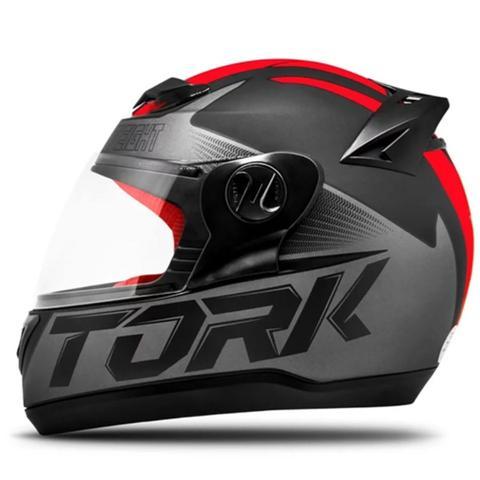 Imagem de Capacete Moto Pro Tork Evolution G7 Preto Fosco Vermelho