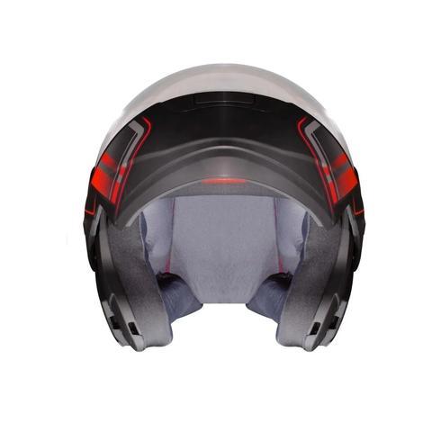 Imagem de Capacete Moto Robocop Articulado Ebf New E08 Drift Vermelho