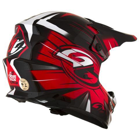 Imagem de Capacete Motocross Infantil Preto E Vermelho CK-01 Pro Tork