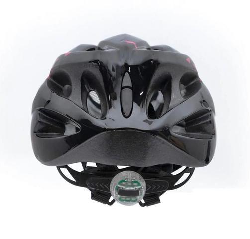 Imagem de Capacete Para Bike Feminino Rosa Raptor 2 Led Traseiro e Viseira Tamanho M 54/58 cm Tsw