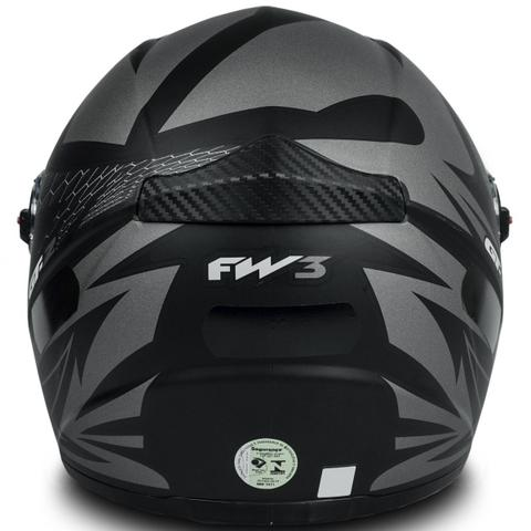 Imagem de Capacete Para Moto Fw3 Gt2 Preto Fosco Tamanho 56