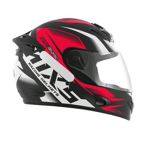 Imagem de Capacete para moto mixs mx2 storm fosco vermelho