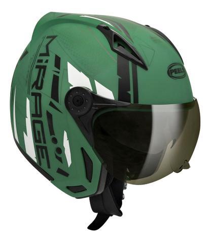 Imagem de Capacete Peels Mirage Techride Masculino Feminino Esportivo Moto com Oculos interno Solar
