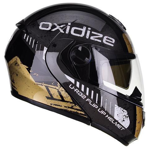 Imagem de Capacete Peels U-RB2 Urban Oxidize Dourado Preto Articulado
