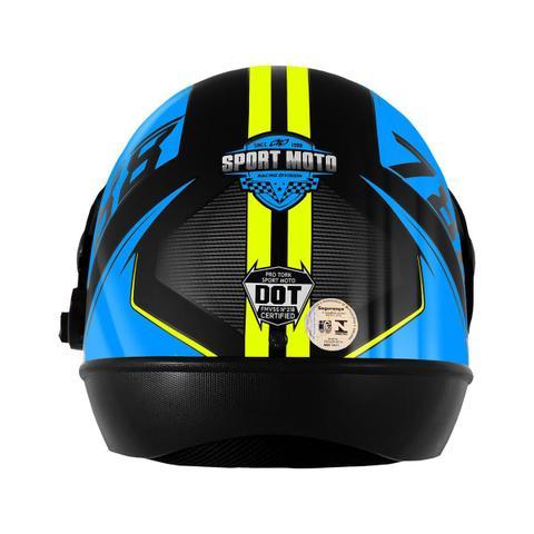 Imagem de Capacete Pro Tork Super Sport Moto 2019 Automático Preto/Azul