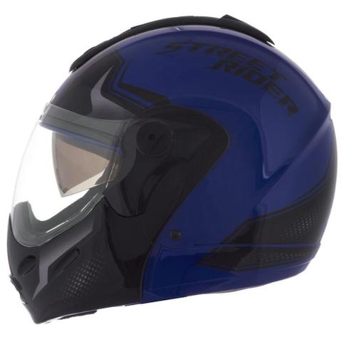 Imagem de Capacete Robocop Mixs Street Rider Óculos Escamoteável Moto