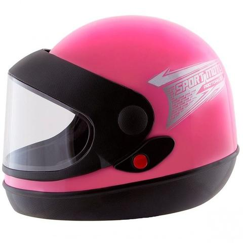 Imagem de Capacete Rosa Moto Automático Tipo Sanmarino Feminino 56/58 Pro Tork