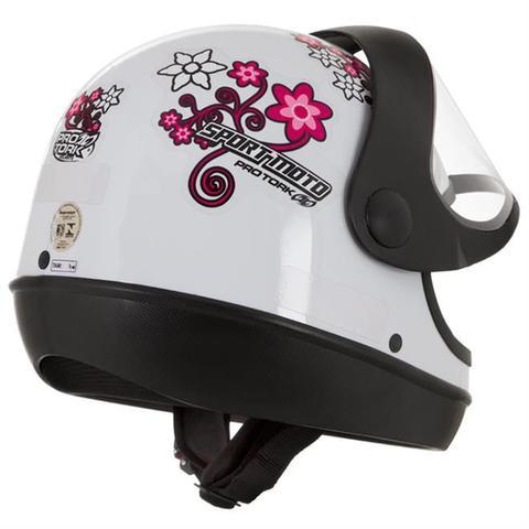 Imagem de Capacete Sport Moto For Girls Branco Pro Tork