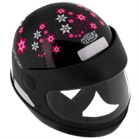 Imagem de Capacete Sport Moto For Girls Preto Pro Tork