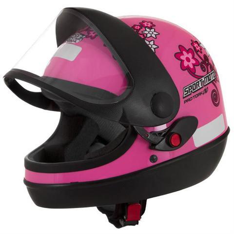 Imagem de Capacete Sport Moto For Girls Rosa Pro Tork