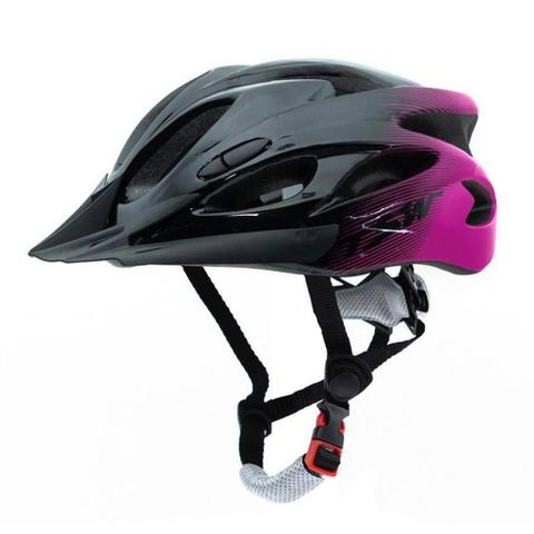 Imagem de capacete tsw raptor com led tam M 54/58 cm rosa