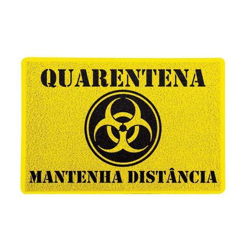 Imagem de Capacho Quarentena Mantenha Distância Amarelo 0,40X0,60M - Beek