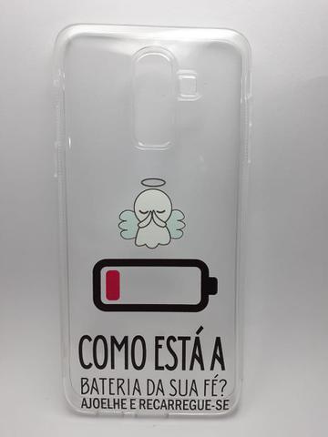 Imagem de Capinha Samsung A6 P/J8 Transparente Personalizada