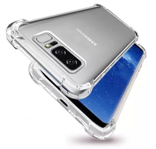 Imagem de Capinha Silicone Transparente Antichoque Samsung Note 8 N950