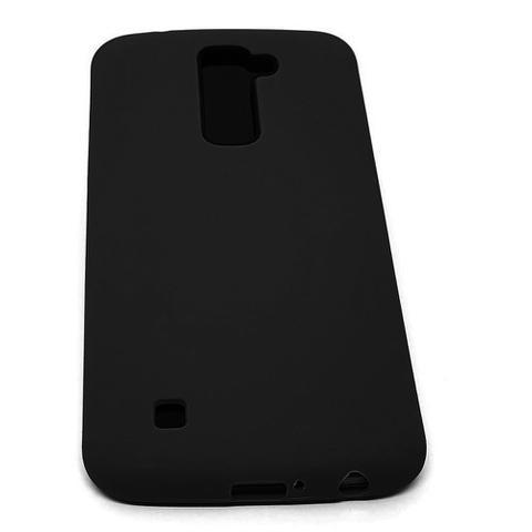 Imagem de Capinha TPU Super Luxo Silicone Premium Color Fosca para LG K10 Preta
