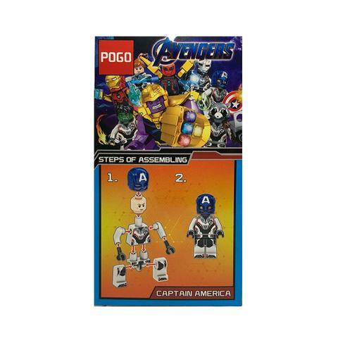 Imagem de Capitão América Vingadores Ultimato Marvel Blocos de Montar Boneco Lego PG-6013-1