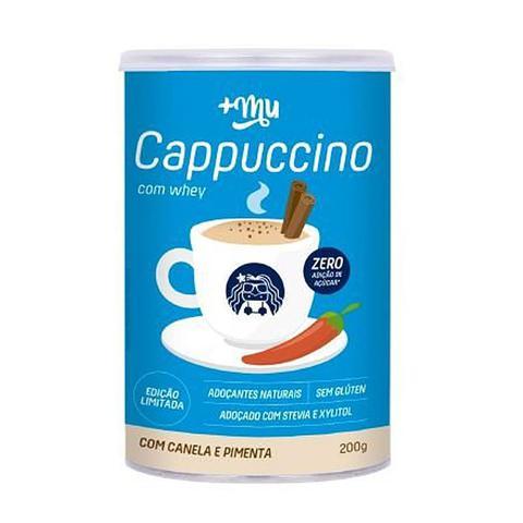 Imagem de Cappuccino Com Whey e Canela Adoçado Com Xylitol 200g - Mais Mu