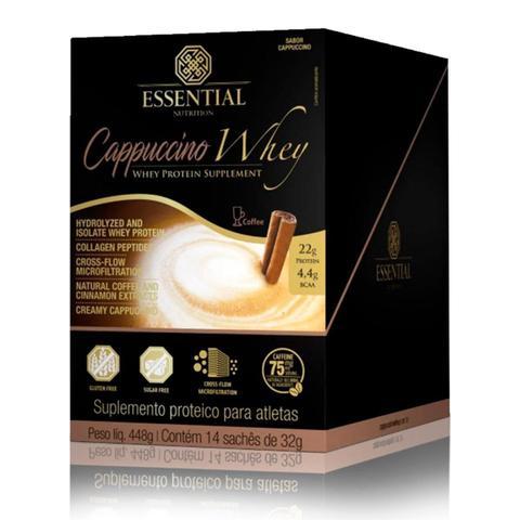 Imagem de Cappuccino Whey Display com 14 Sachês de 32g Essential Nutrition