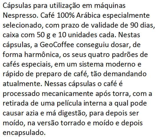 Imagem de Cápsulas  Nespresso Café Geocoffee Kit com 50 cápsulas Biodegradáveis