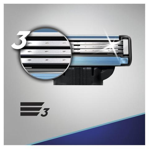 Imagem de Carga aparelho barbear gillette mach3 com 2 unidades