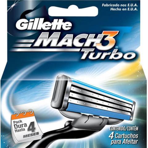 Imagem de Carga barbear gillette mach3 c/4 mach3 turbo