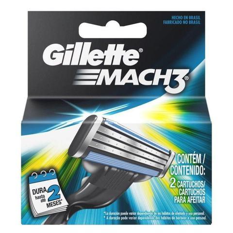 Imagem de Carga gilette Mach 3 com  2 unidades
