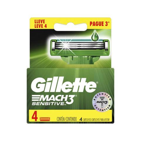 Imagem de Carga Gillette Mach3 Sensitive Leve 4 Pague 3