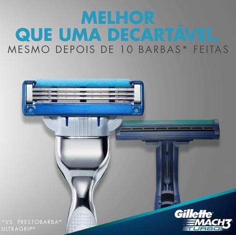 Imagem de Carga Gillette Mach3 Turbo com 2 Cartuchos