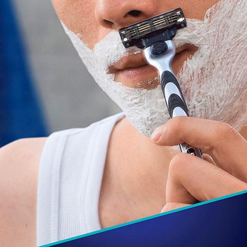 Imagem de Carga Para Aparelho De Barbear Gillette Mach3 - 3 Unidades