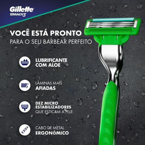 Imagem de Carga Para Lâmina De Barbear Gillette Mach3 Sensitive - 2 unidades