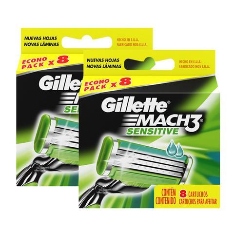 Imagem de Carga Refil Gillette Mach3 Sensitive 16 Unidades - Lacrado