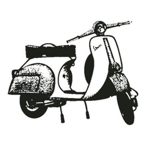Imagem de Carimbo em Borracha Litoarte CLP-062 Moto Vespa