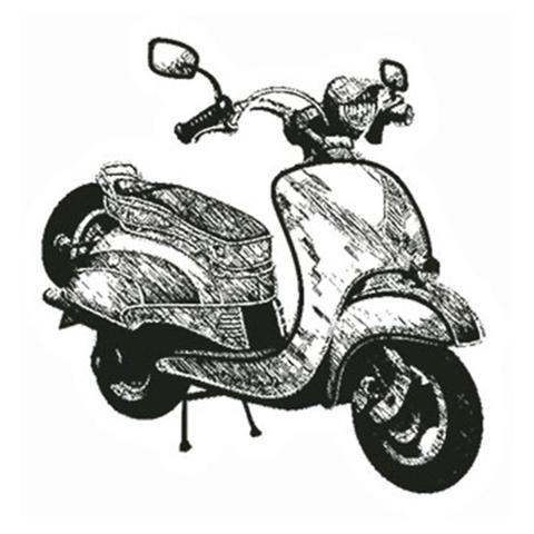 Imagem de Carimbo em Borracha Litoarte CLP-063 Moto Lambreta