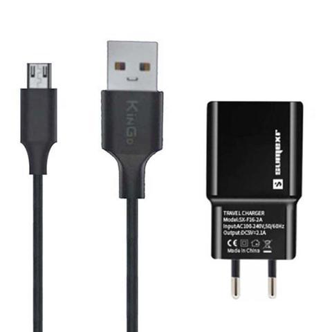 Imagem de Carregador 2 Metros Compatível com Motorola Moto G4 Play Cabo USB V8 E Fonte