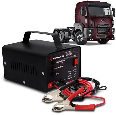 Imagem de Carregador Bateria Automotivo Para Caminhão Shutt Bivolt 12V 10A 120W Led Indicador Auxiliar Partida