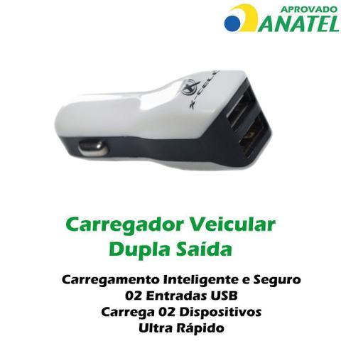 Imagem de Carregador Celular Kit Veicular Samsung J7 J6 J5 Prime Micro USB