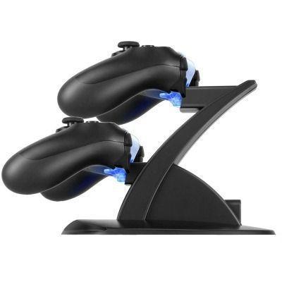 Imagem de Carregador controle Duplo compativel Ps4 Playstation 4 play 4 com led
