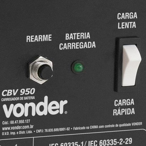 Imagem de Carregador de Bateria 12V - CBV950 Vonder
