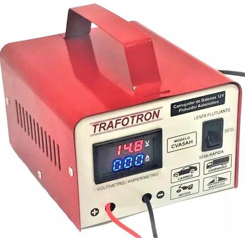 Imagem de Carregador De Bateria 12v Com Voltimetro E Amperimetro Cva5a